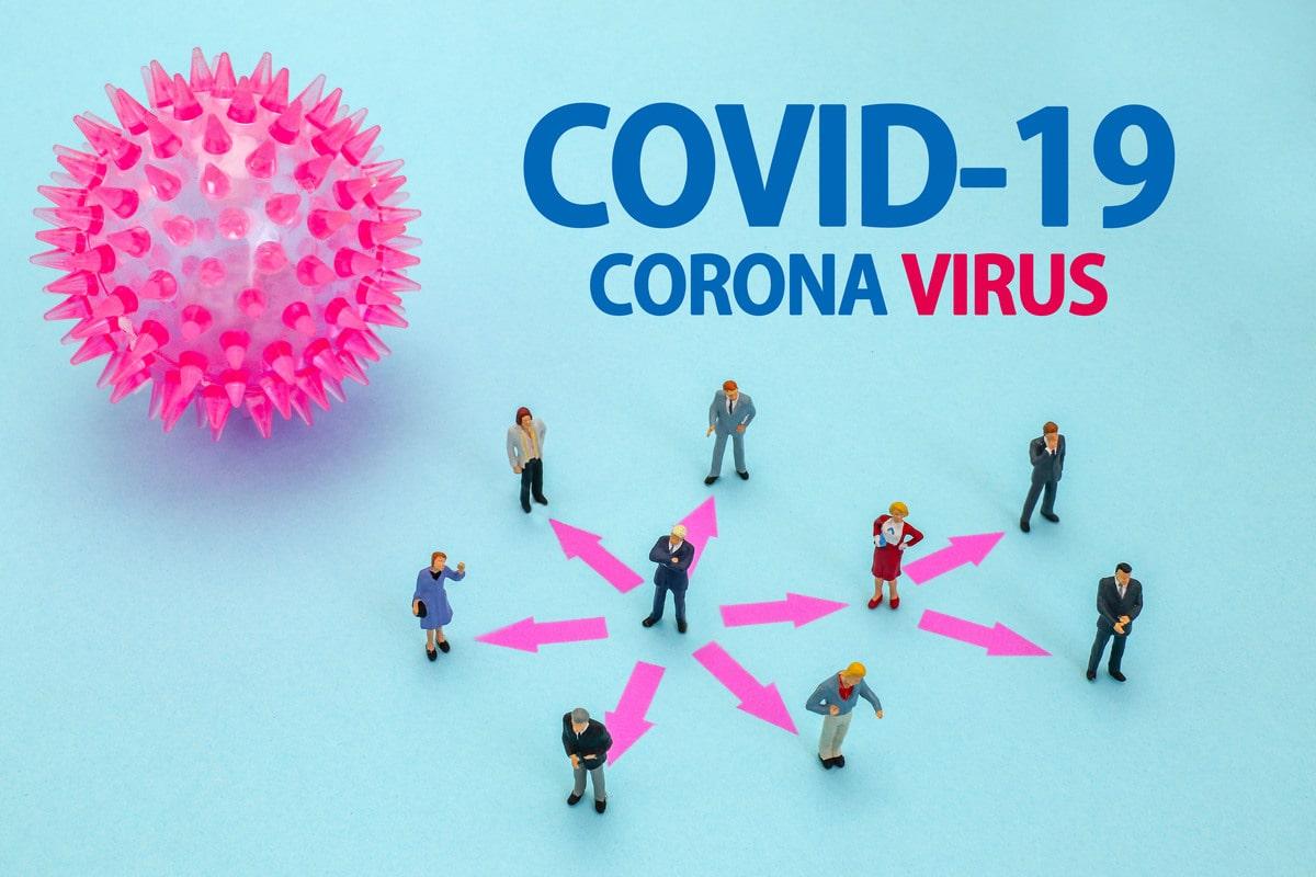 新型コロナウィルス(COVIS-19)のイメージ